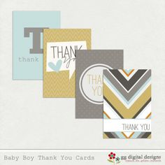 Free printable thank you cards but yes, use them as labels also -:)