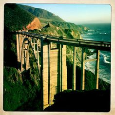 """Big Sur highway. California. """"American National Scenic Byway & California Scenic Highway, an honor reserved for highways that are so distinctive they are destinations unto themselves. """" bigsurcalifornia.org"""