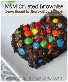 The BEST and EASIEST brownies ever!!!  18 recipes just using a brownie mix.  SO smart! Brownies: From Boxed to Gourmet in 3 Easy Steps or Less! by www.thepinningmama.com