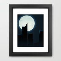 Smooth Minimal Batman- Popular Framed Art Prints   Society6