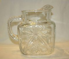 Early American Prescut by Anchor Hocking Square 40oz Pitcher