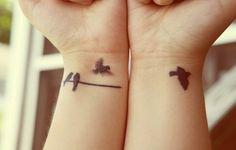Little Black Bird Tattoos - love the flying bird