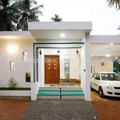 4 Bedroom Stunning Mix Designed Modern Home in Free Plan - Free Kerala Home Plans Single Floor House Design, Small House Design, Kerala Traditional House, Courtyard House Plans, Kerala House Design, Kerala Houses, Foyer Design, Storey Homes, Bedroom House Plans