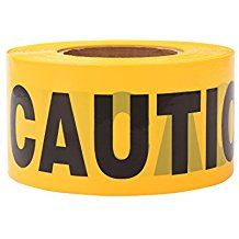 TopSoon Yellow CAUTION Tape Roll by Non-Adhesive Construction Caution Tape Safety Barrier Tape Ribbon Tape Warning Tape for Danger/Hazardous Areas Water Kids, Cereal Bowls, Coffee Cans, Adhesive, Tape, Safety, Clock, Ribbon, Yellow