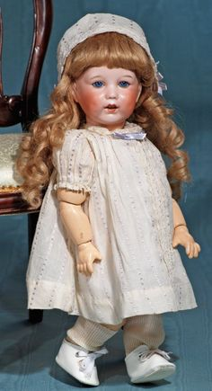 "FRENCH BISQUE CHARACTER TODDLER BY S.F.B.J. Marks: 251, SFBJ Paris. 15""."