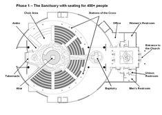 Superb Architectural Plan Of A Church   Buscar Con Google