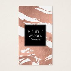 246 best business cards for interior designers decorators images luxe rose gold brushstrokes designer business card colourmoves