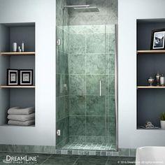 """DreamLine SHDR-20347210 Unidoor 72"""" High x 35"""" Wide Hinged Frameless Shower Door"""