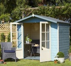 The lovely Lumley Summer House is a very enjoyable place to relax and enjoy your garden from. The timber cladding make it a building which can be painted in a number of imaginative designs. #SummerHouse #garden