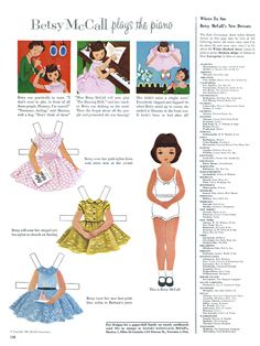 Betsy McCall Paper Dolls from the old McCalls magazine