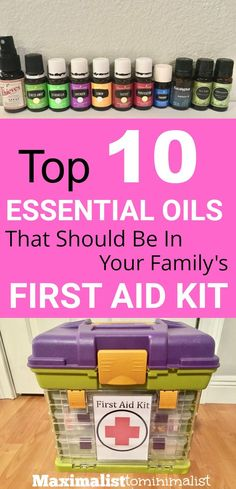Essential oils SHOULD be in your family's first aid kit! There are SO MANY health properties to essential oils. Be sure to take them on your next road trip!