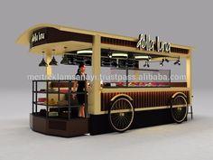 Ice Cream Waffle Bar Cake Shop Candy Shop Phaeton Design Mall Kiosk Della Luna Modular Indoor Fast Food Kiosk