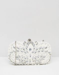 Image 1 of Chi Chi London Rhinestone Detail Clutch Bag