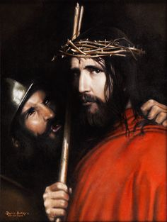 Soldier Mocking Christ by Darin Ashby.  Not a typical painting of Jesus but so powerful. $169