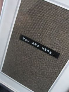 Like the idea of doing framed burlap/linen with a tiny little phrase in it for a gallery wall