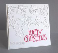 Merry Christmas by Ardyth - Cards and Paper Crafts at Splitcoaststampers Homemade Christmas Cards, Christmas Cards To Make, Noel Christmas, Xmas Cards, Homemade Cards, Handmade Christmas, Holiday Cards, Christmas Design, Christmas Snowflakes