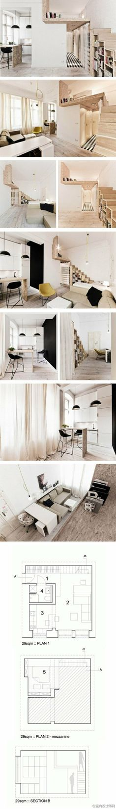 波兰29平方复式公寓