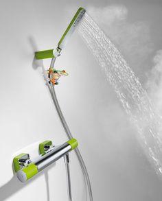 Un toque alegre y divertido en tu ducha