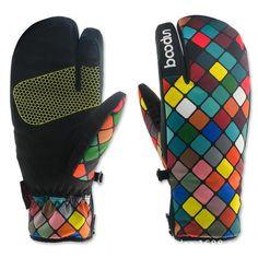 Apparel Accessories Boys Girls Outdoor Snow Skiing Gloves Snowboard Kids Children Ski Gloves Winter Printed Fleece Warm Waterproof Gloves Mittens