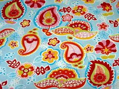 0.5m of Brother Sister Fabric-Orange Pink Paisley