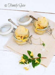 White Apricot Sorbet with Honeysuckle from @Laura | Family Spice