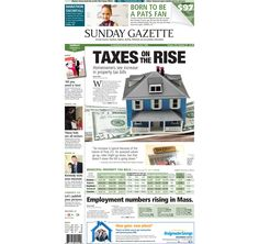 The front page of the Taunton Daily Gazette for Sunday, Feb. 8, 2015.