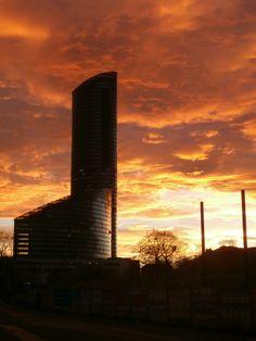 Sky Tower in clouds #Wrocław#SkyTower