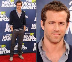 Ryan Reynolds red carpet style. #fashion