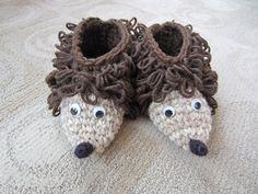 Crochet House Boot Slippers Crochet Toys Crochet Animals Crochet Kids Slippers Hedgehog for Boy or Girl. $18.00, via Etsy.