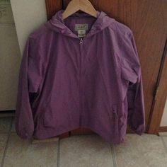 Purple LL Bean rain coat. Size medium. Stylish purple jacket used only a handful of times. Like new condition. Size medium LL Bean Jackets & Coats