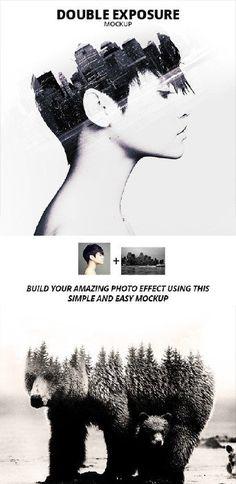 Double Exposure Photoshop Mockup - 17506226