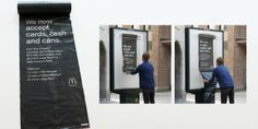 """Macdonalds #promo """"pay with cans"""" #DDB Stockholm #festival activation"""