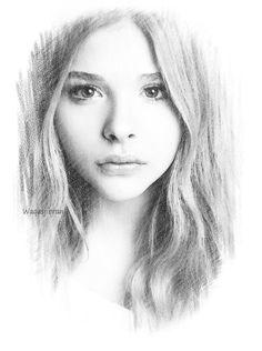 Chloe Grace Moretz, by Waqas Jibran Discover The Secrets Of Drawing Realistic Pencil Portraits... http://pencil-portrait-mastery-today.blogspot.com?prod=dtBr9eeM