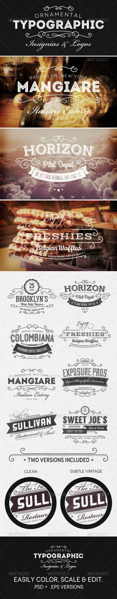 Web Elements - Ornamental Typographic Insignias