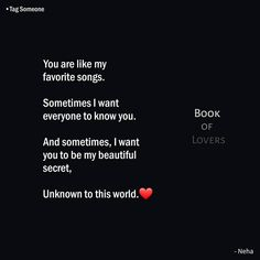 """Book of Lovers on Instagram: """"Tag Someone❤⠀ __________________________________⠀ ⠀ Follow @thescratchedquotes_⠀ Follow @bookoflovers_⠀ __________________________________⠀…"""" Liking Someone Quotes, Love Quotes For Her, Forever Love Quotes, Friend Love Quotes, Quotes About Strength And Love, Secret Love Quotes, Love Song Quotes, True Feelings Quotes, Love Husband Quotes"""