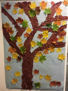 Autumn Crafts, Autumn Trees, Nursery, Painting, Education, Hello Autumn, Children, Fall Trees, Baby Room