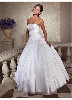 [132.29] Robe de mariée charmante avec jupe ample en taffetas sans bretelle  - http://fr.dressilyme.com/p-robe-de-mari%C3%A9e-charmante-avec-jupe-ample-en-taffetas-sans-bretelle-7726.html
