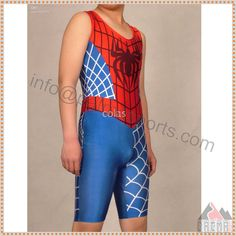 5d4b3a2e22be8 Custom Lycra Spandex Wrestling Singlet Tights Pants Superhero spiderman  Outfit Sportwear Bib Shorts Costume For Sale