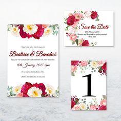 Pink Peony Pop Wedding Stationary Invitations Set PRINTABLE Pink Peonies, Peony, Invitation Set, Wedding Stationary, Save The Date, Etsy Store, Printable, Handmade Gifts, Design