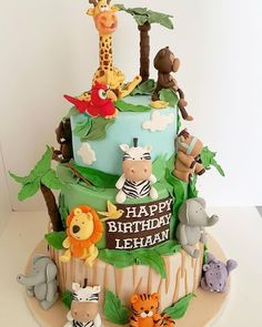 jungle theme cake - Google Search