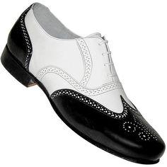 b1d5d4c3923 Aris Allen Men s 1930s Black and White Spat Style Wingtip Dance Shoe 1920s Mens  Shoes