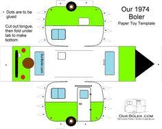boler trailer paper toy template color