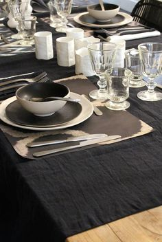 Black and White tableware inspiration.