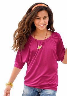 Produkttyp , ¾ Arm Shirt, |Qualitätshinweise , Hautfreundlich Schadstoffgeprüft, |Materialzusammensetzung , Obermaterial: 95% Viskose, 5% Elasthan, |Material , Jersey, |Farbe , Pink, |Passform , Weite Form, |Schnittform/Länge , hüftlang, |Ausschnitt , Gummizug, |Ärmelstil , Fledermausärmel, |Armabschluss , Kante abgesteppt, |Saumabschluss , Gummizug, |Optik , uni, |Pflegehinweise , Maschinenwäs...