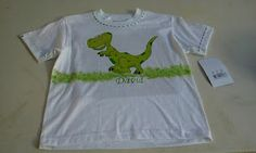 camiseta pintada a mano dinosaurio rex