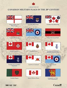 Canadian Military Flags in the Century Canadian Things, I Am Canadian, Canadian History, Military Units, Military History, Military Flags, Meanwhile In Canada, Royal Canadian Navy, Canadian Soldiers