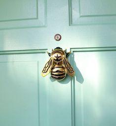 adorable honey bee brass door knocker!