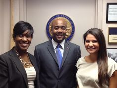 From left: Felina Martin-Event Producer, State Representative Alan Williams, and Jenna Pruim-Intern finishing a successful meeting about the 2013 Tallahassee Fitness Festival!