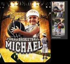 I can create a custom basketball sports poster of your child using your photos. View and order yours at http://anythingphotos.com/projects/photos/sports