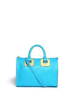 SOPHIE HULME - Mini zip bowling bag | Blue Day Shoulder Bags | Womenswear | Lane Crawford